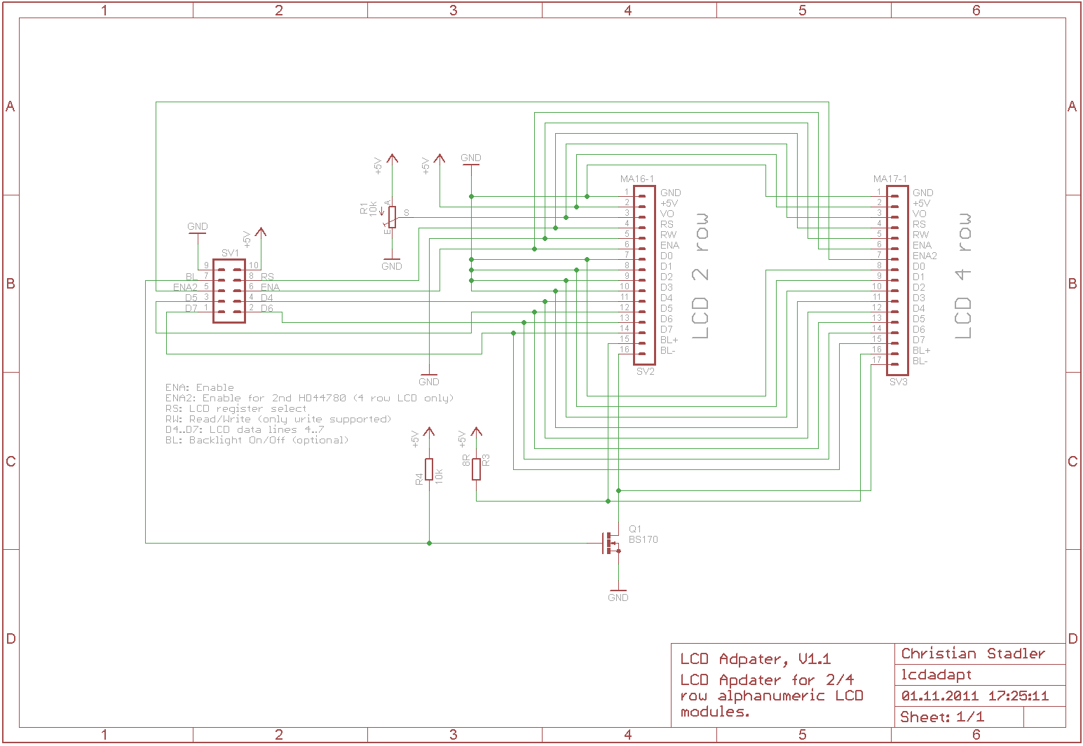 Lcd Display Adapter Rs232 Schematic
