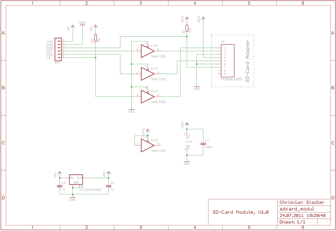 SD-Card module schematic