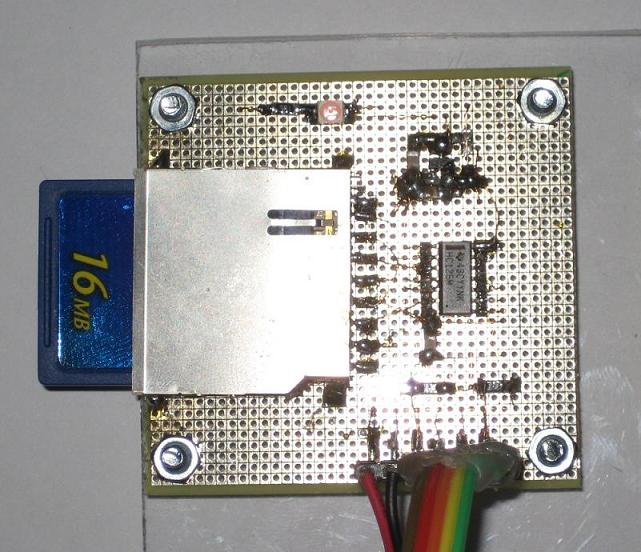 SD-Card module on breadboard
